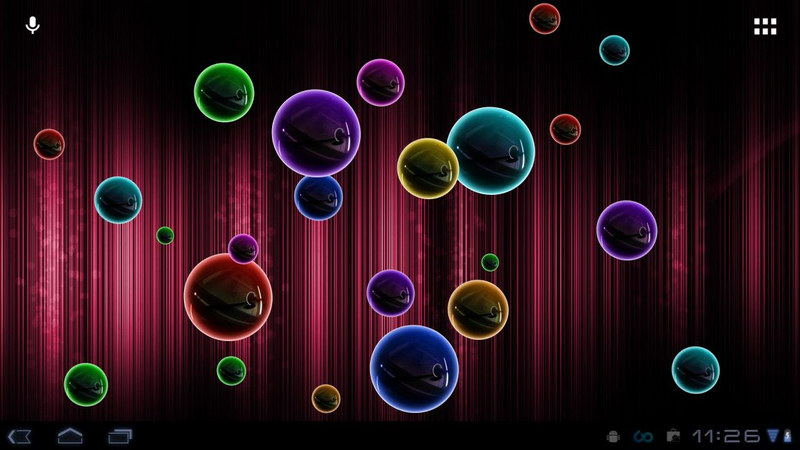 neon bubble live wallpaper android